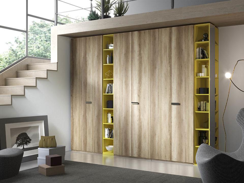Cabina armadio, scomparti armadio, specchio, maniglia, galm design